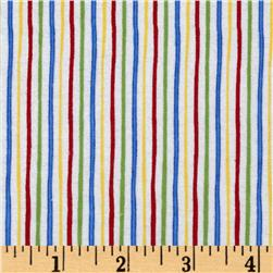 Alpine Flannel Stripe Bright Fabric