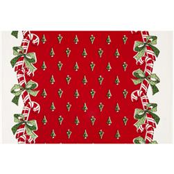 Moda Toweling Candy Canes Red