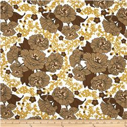Auntie's Attic Floral Medallion Canvas Natural