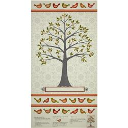 Moda Family Tree Tree Panel Grey Beaks