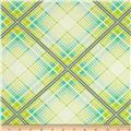 Heather Bailey Up Parasol Summer Plaid Turquoise