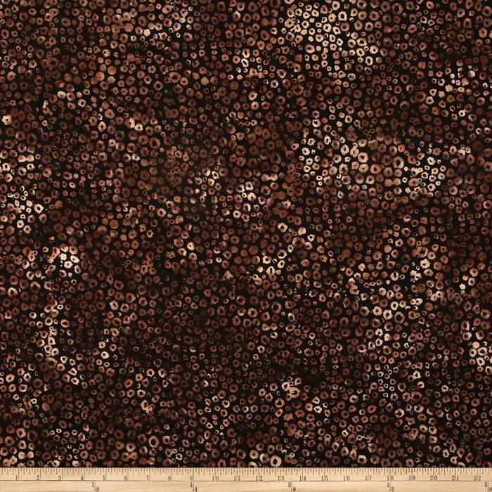 Bali Batiks Handpaints Static Dots Teak