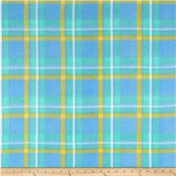 Fleece Plaids Mint/Blue/Yellow