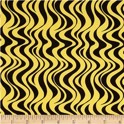 Mellow Yellow Wavy Stripe Yellow/Black
