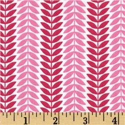 LuLu Leaf Stripe Pink Fabric