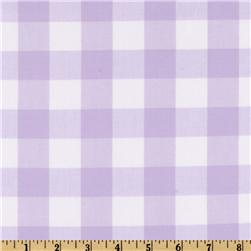 Woven 1'' Cotton Carolina Gingham Lavender