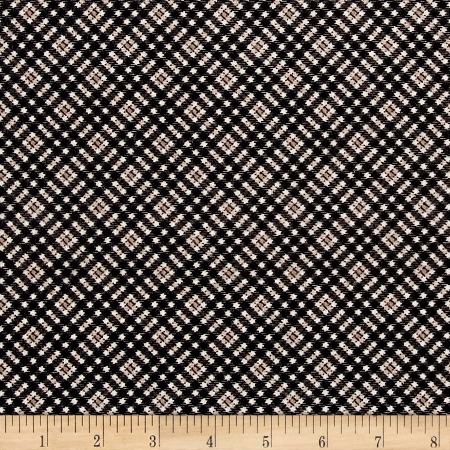 Timeless Treasures Oxford Flannel Shepherd's Check Tan Fabric