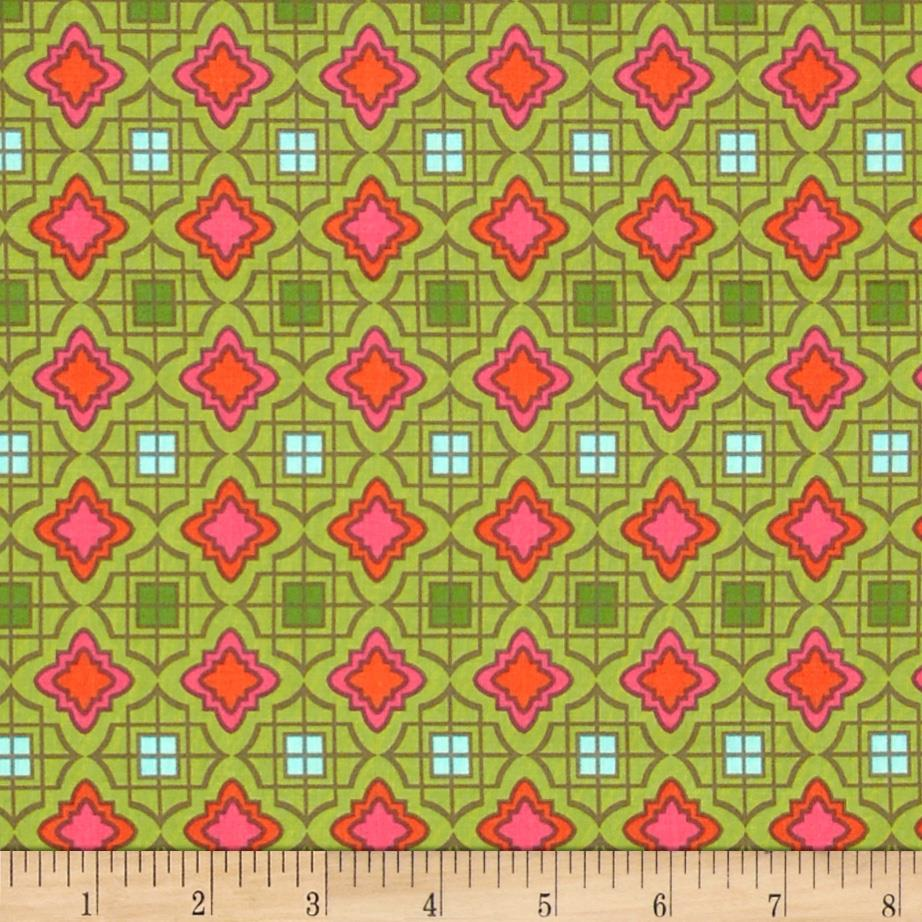 Cabana Blooms Medallions Olive Green