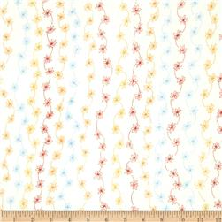 Daisy Love Flannel Daisy String Sorbet Fabric