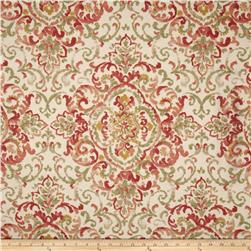 Duralee Home Quentin Damask Rose/Green Fabric