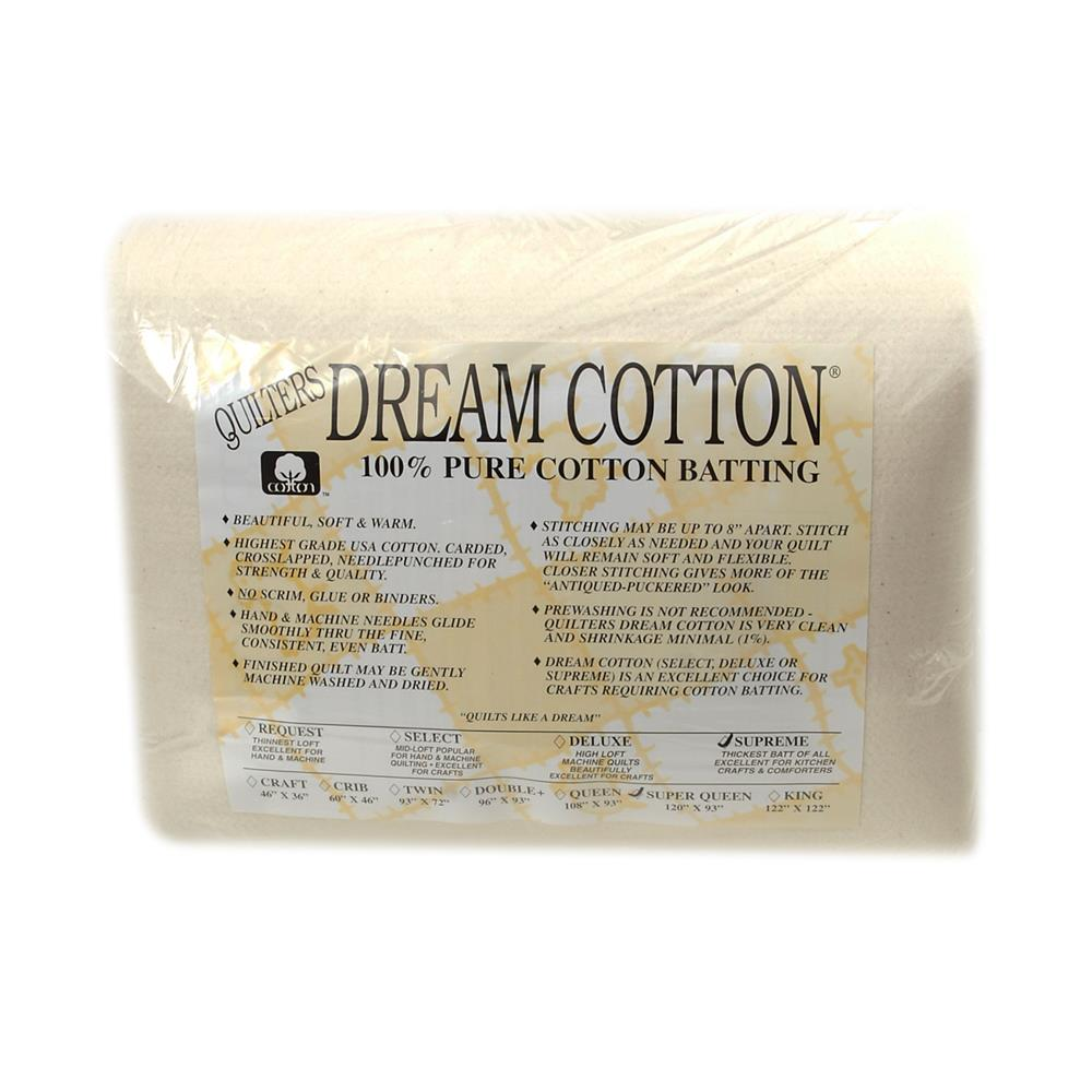 Quilter S Dream Natural Cotton Supreme Batting 120 X 93 Super Queen Designer Fabric Com