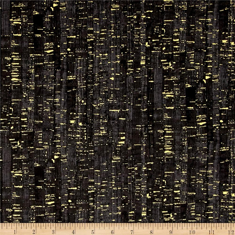 Uncorked Black Metallic Gold - Discount Designer Fabric ...
