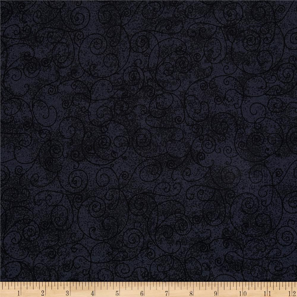 110 In. Wide Quilt Back Willow Charcoal Fabric
