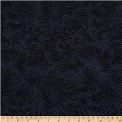 110 In. Wide Quilt Back Willow Charcoal