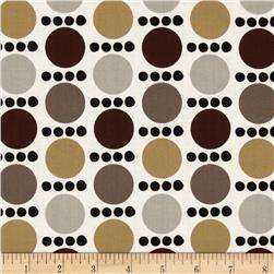 Contempo Palm Springs Spots and Dots White/Brown