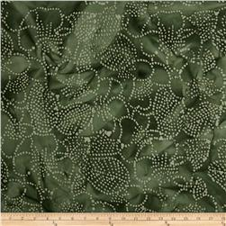 Indian Batiks Floral Green/Natural