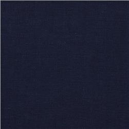European Linen Blend Shirting Navy