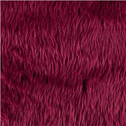Faux Fur Luxury Shag Burgundy