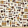 Kaufman Vineyard Collection Collage Ivory