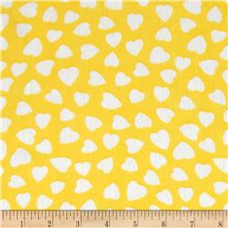 Yoryu Chiffon Large Hearts White/Yellow