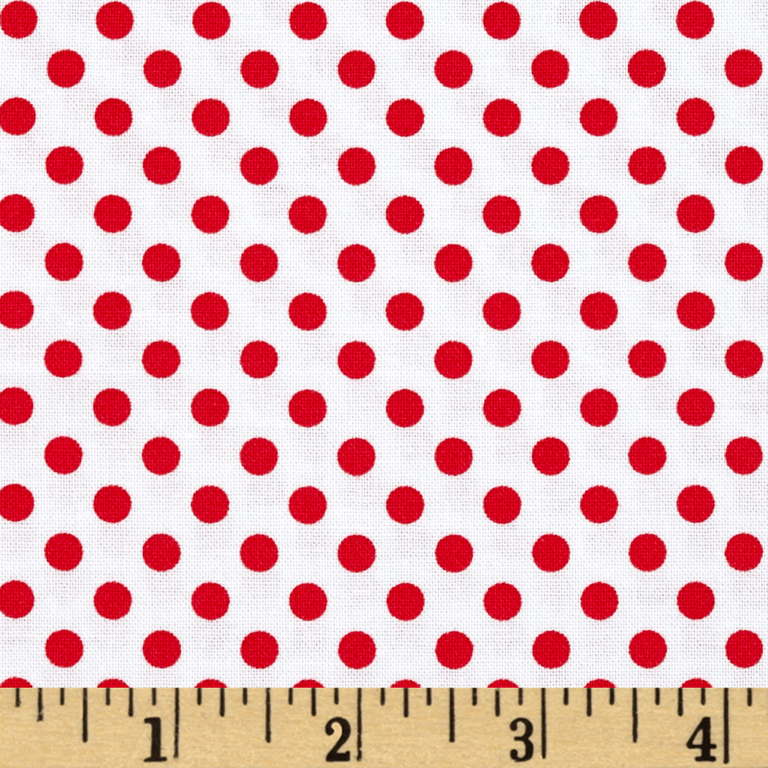 So Sweet Love Dots Red Fabric by Marcus in USA