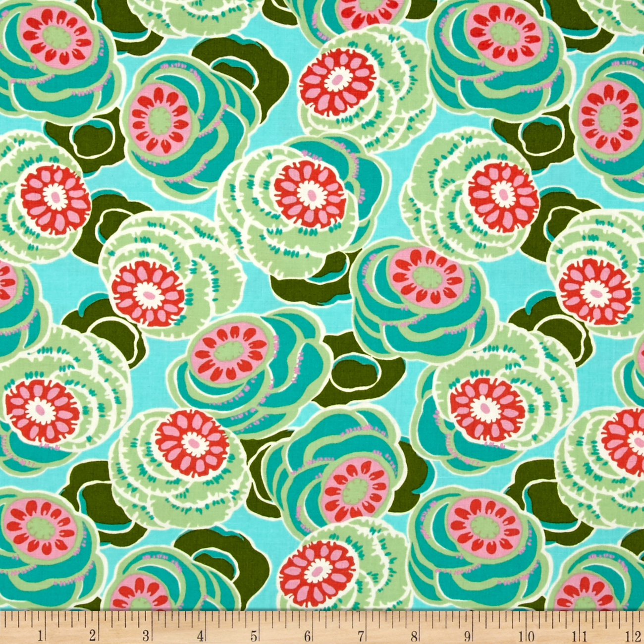 Amy Butler Dream Weaver Clouded Floral Seagl Fabric by Westminster in USA