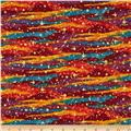 Changing Seasons Abstract Stripe Red/Yellow/Blue
