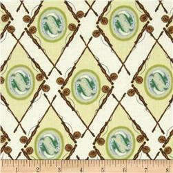 Little Rivers Fish Medallion Argyle Tan