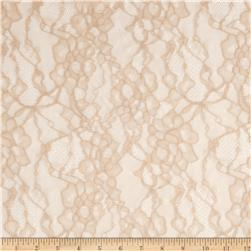 Darling Stretch Lace Beige Fabric