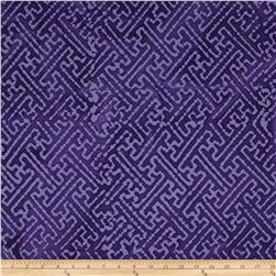 Indian Batiks Maze Purple