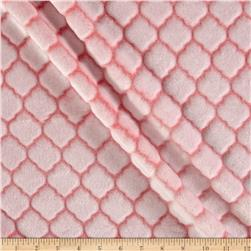 Shannon Minky Embossed Tile Spa Cuddle Coral