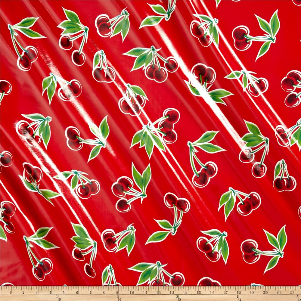 Oilcloth Stella Red
