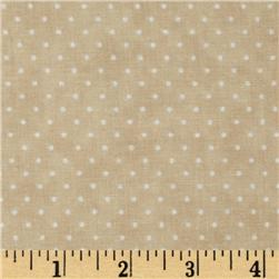 Moda Essential Dots (# 8654-11) Eggshell Fabric