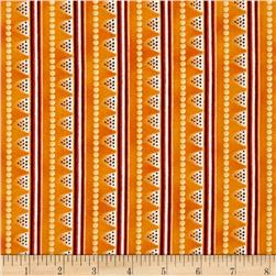 Laurel Burch Laurel Land Metallic Stripe Orange