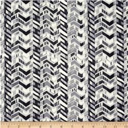 Le Jardin Striped Chevron Grey