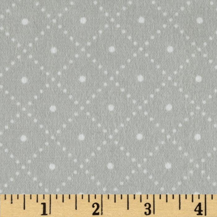 Cozy Cotton Flannel Argyle Grey