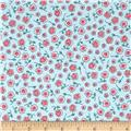 Prairie Yard Goods Mini Floral Teal