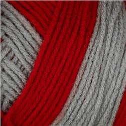 Red Heart Team Spirit Yarn (988) Red/Grey