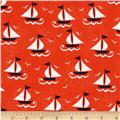 Michael Miller Ahoy Matey Ship Shape Clementine Orange