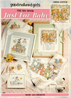 "Leisure Arts ""Big Book Just for Baby"" Cross Stitch Book"