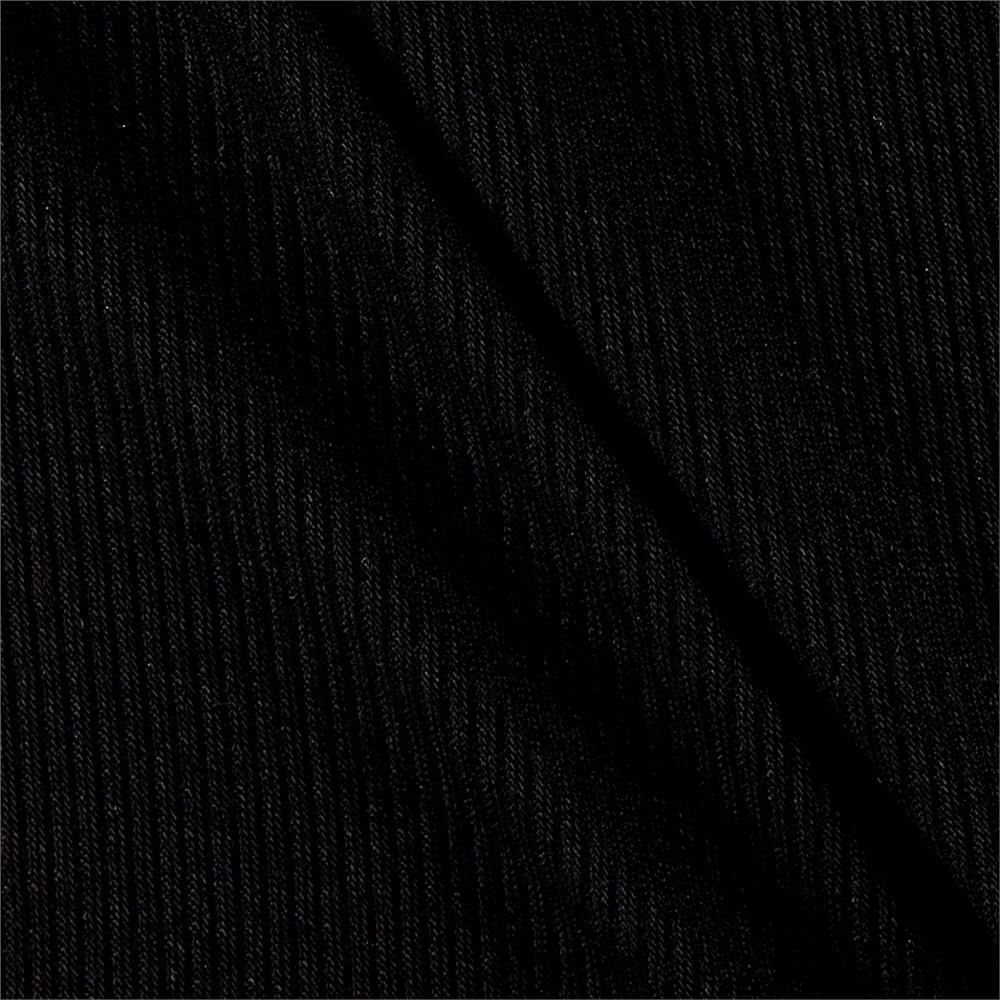 Rib 2x1 Knit Solid Black