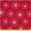 Contempo Palm Springs Mono Florals Red