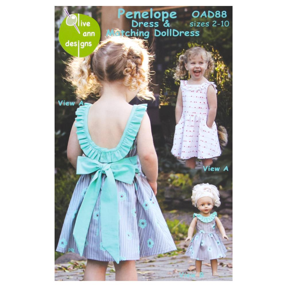 Olive Ann Designs Penelope Dress & Doll Dress Pattern