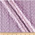 Novelty Stretch Lace Puckered Lavender