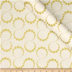 Orbit Metallic Swirl Dot Gold/Cream Fabric
