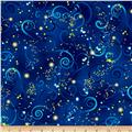 Kanvas Dance Of The Dragonfly Metallic Swirling Sky Midnight Blue
