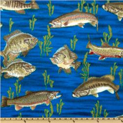 Winterfleece Swimming Fish Navy