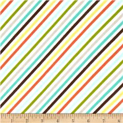 Riley Blake Oh Boy! Flannel Stripe Orange