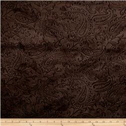 Shannon Minky Embossed Cuddle Paisley Chocolate