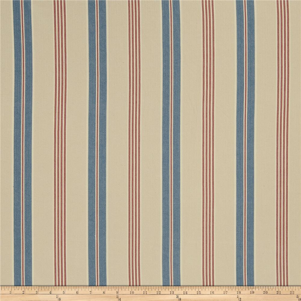 French General St Remy Linen Blend Indigo Fabric